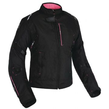 Oxford Girona Women's Ladies Waterproof Textile Motorbike Jacket Tech Pink